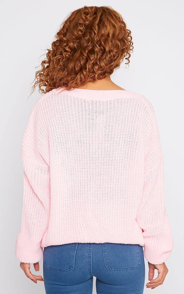Delilah Pink Knitted Jumper 2