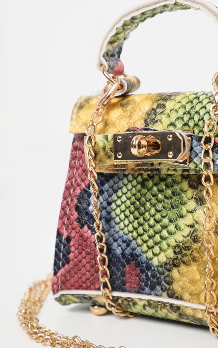 Multi Micro Snake Print Mini Bag 5