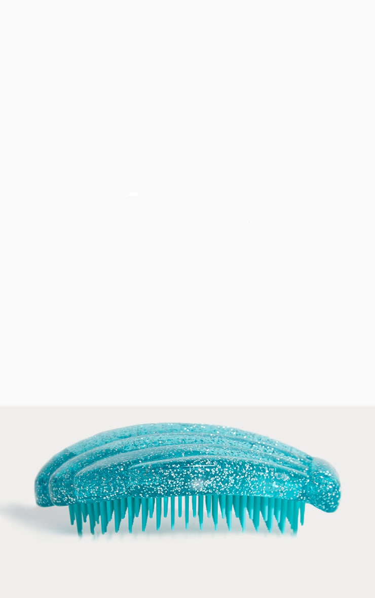 Brosse démélante coquillage turquoise 2