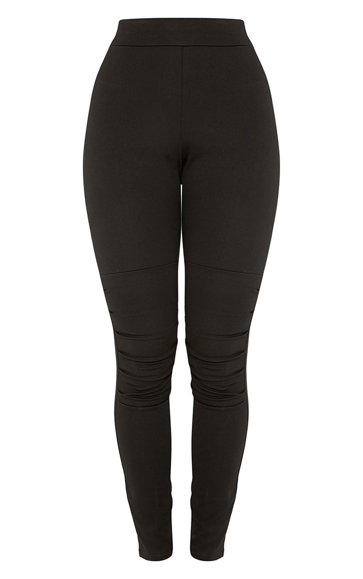 Drina Black Ruched Knee Skinny Trousers  3