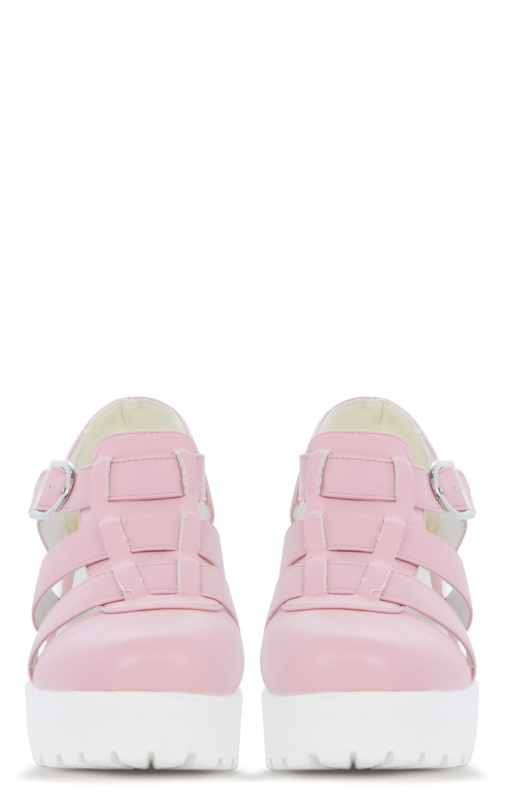 Rachel Pink Cut Out Cleated Shoe 3