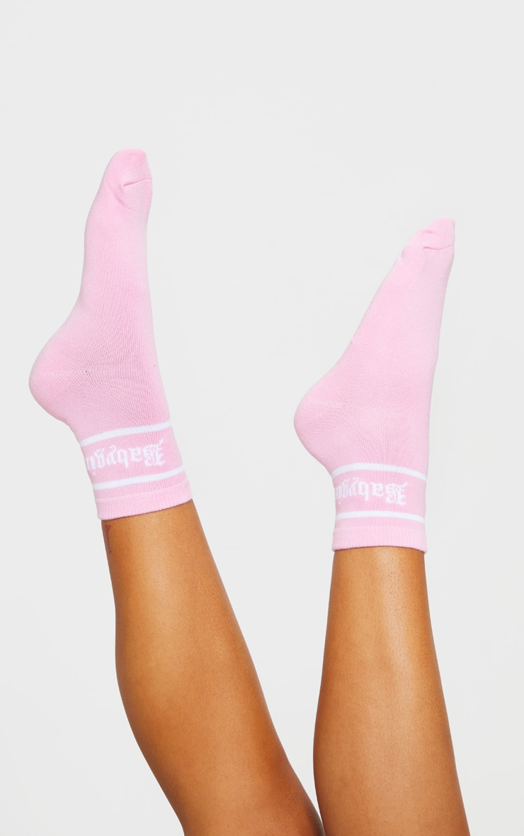 Pink Baby Girl Ankle Sock 2