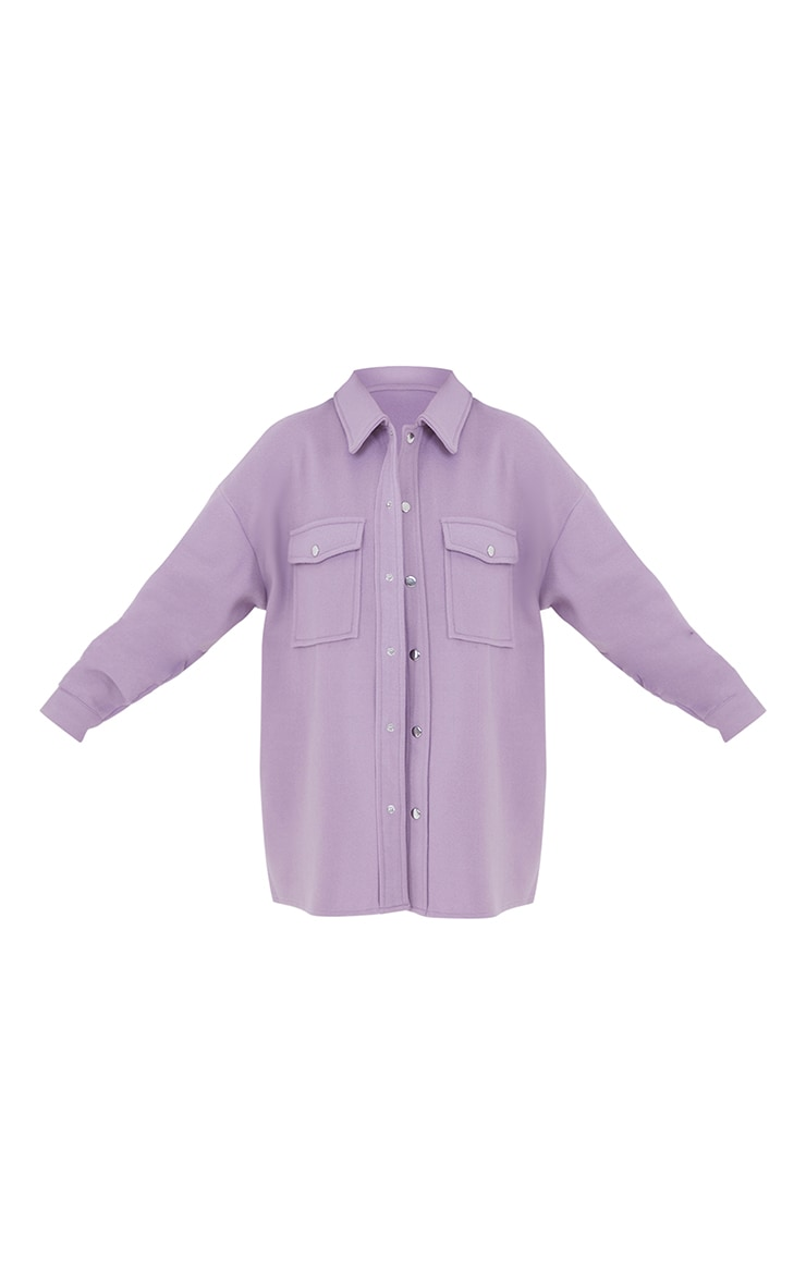 Petite Lilac Oversized Shacket  5