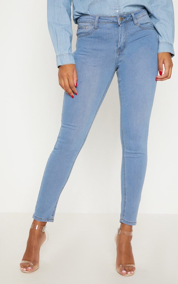 Light Wash Slim Leg Jeans 2