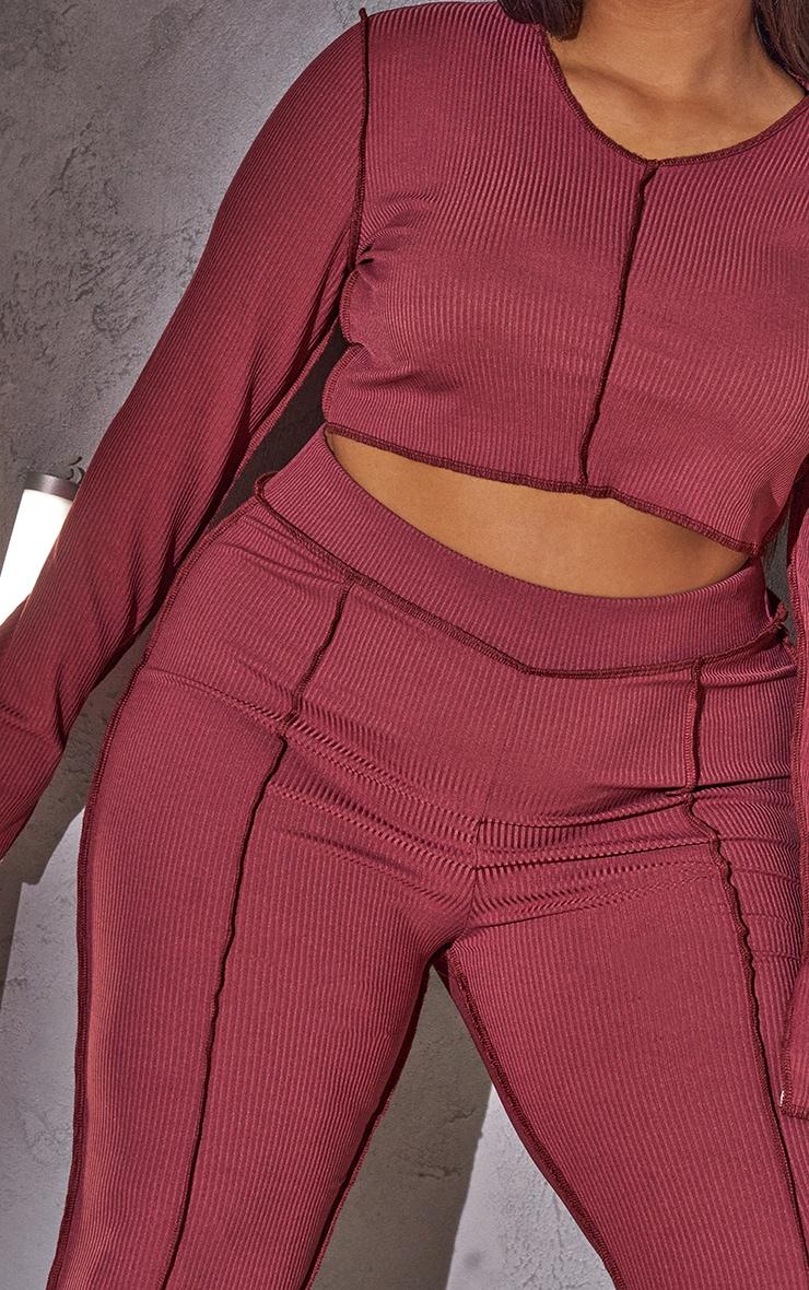 RENEW Plus Red Split Sleeve Seam Detail Crop Top 4