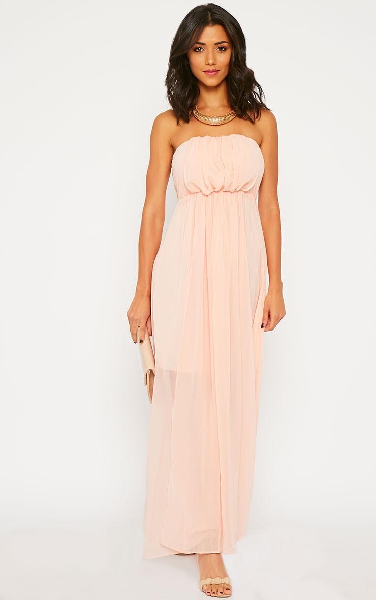 Brigette Pink Bandeau Maxi Dress 1