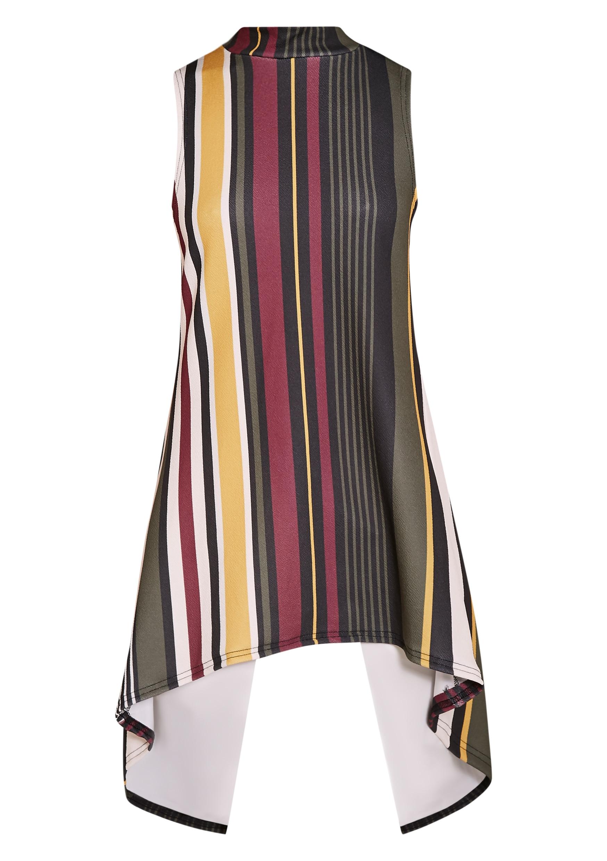 Jasmine Khaki Stripe Open Back Top 3