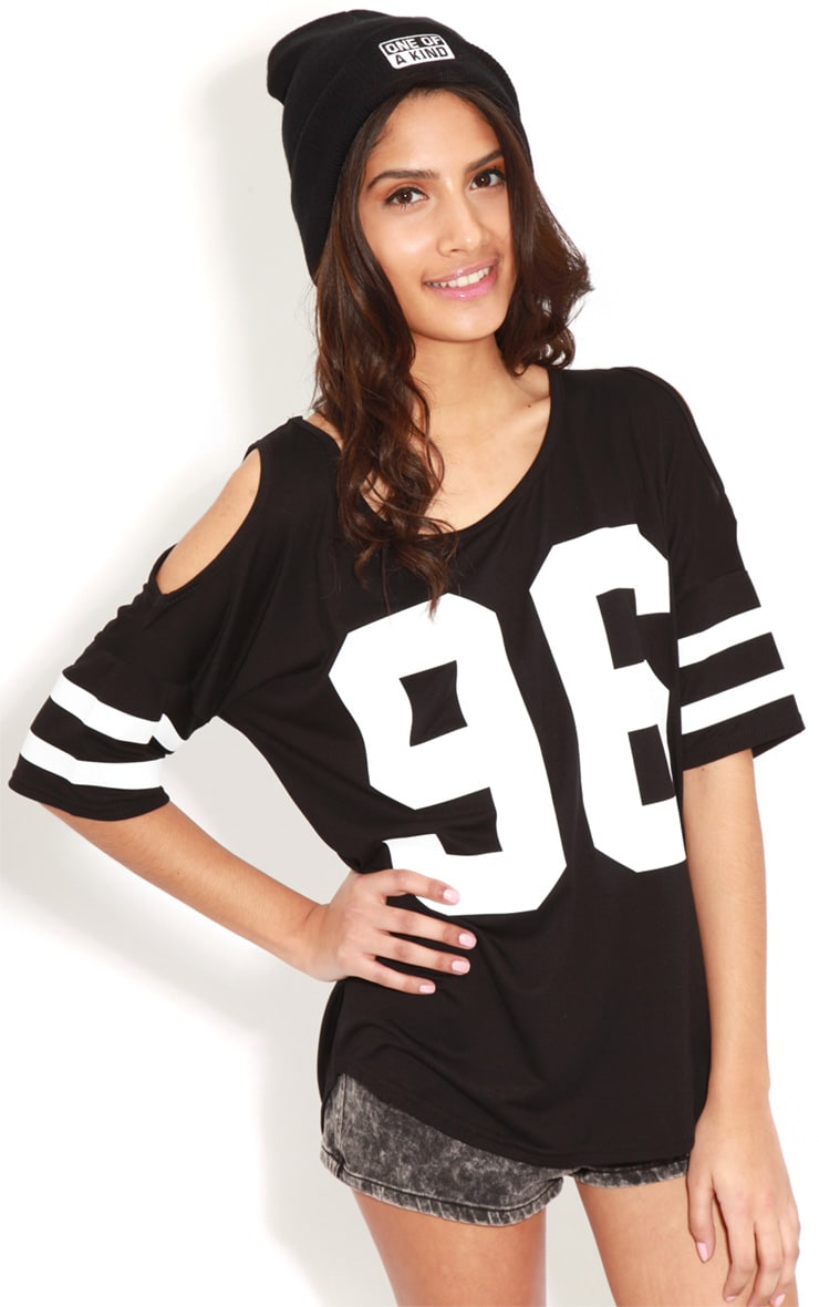 Ryleigh Black 96 Cut Out Shoulder Tee 4