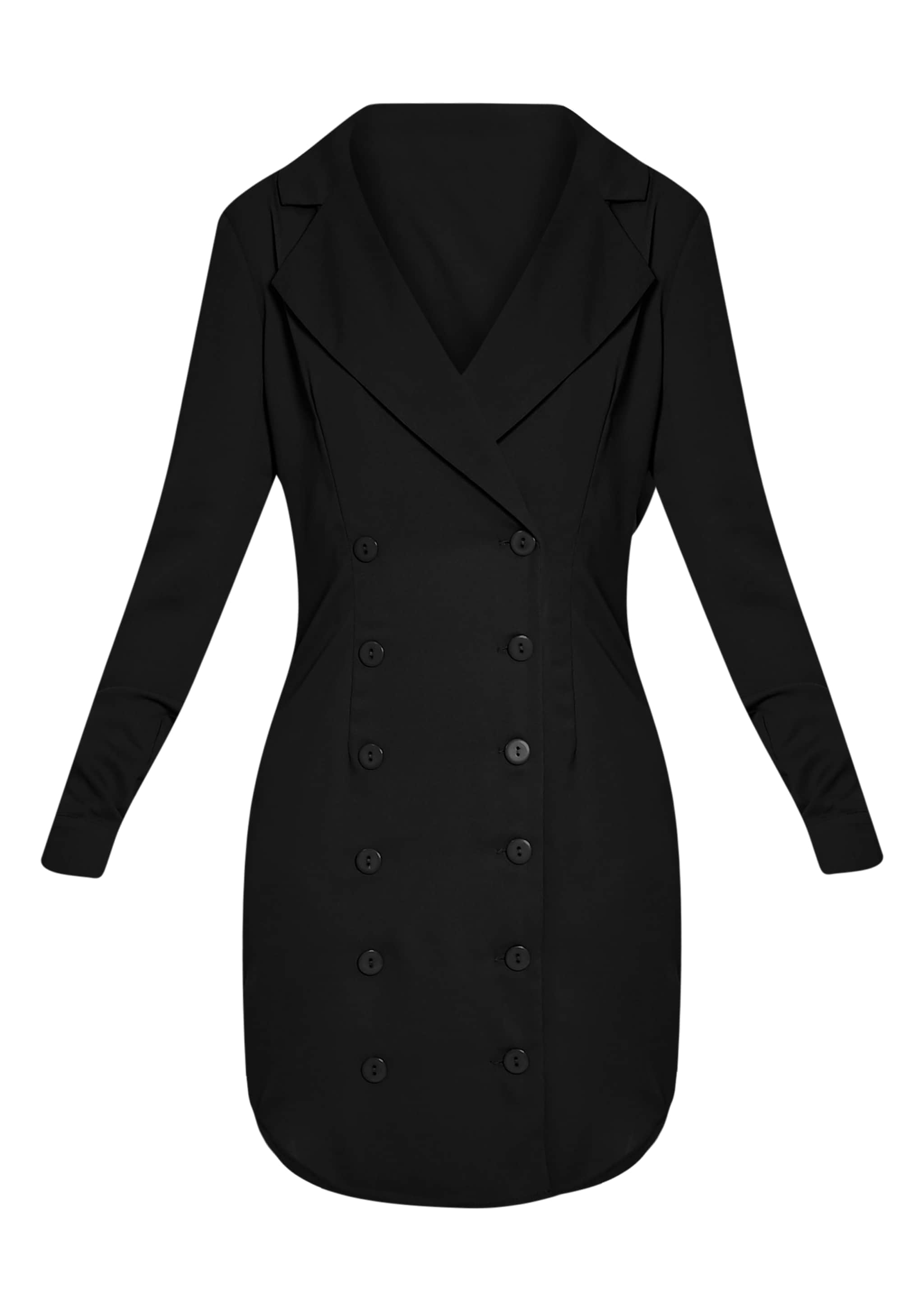 Lucah Black Double Breasted Blazer Dress 3