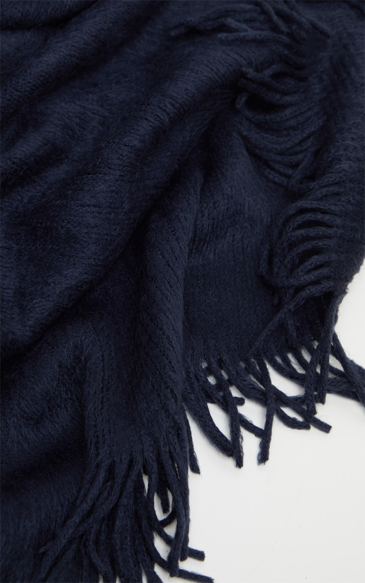 Navy Brushed Scarf 3