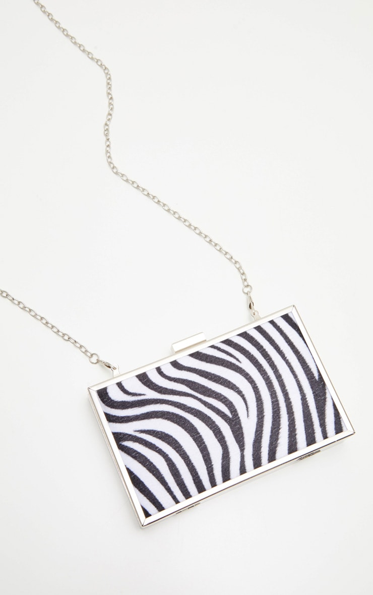 Zebra Square Clutch 2