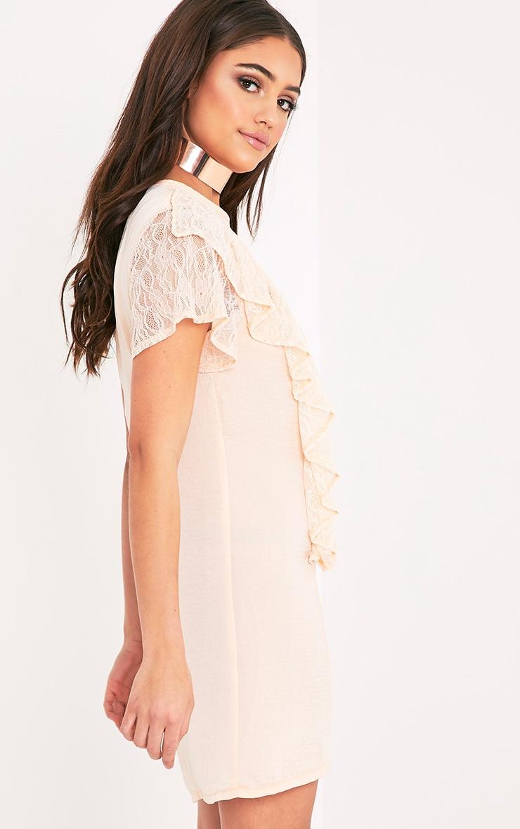 Melyssa Blush Lace Trim Shift Dress 4