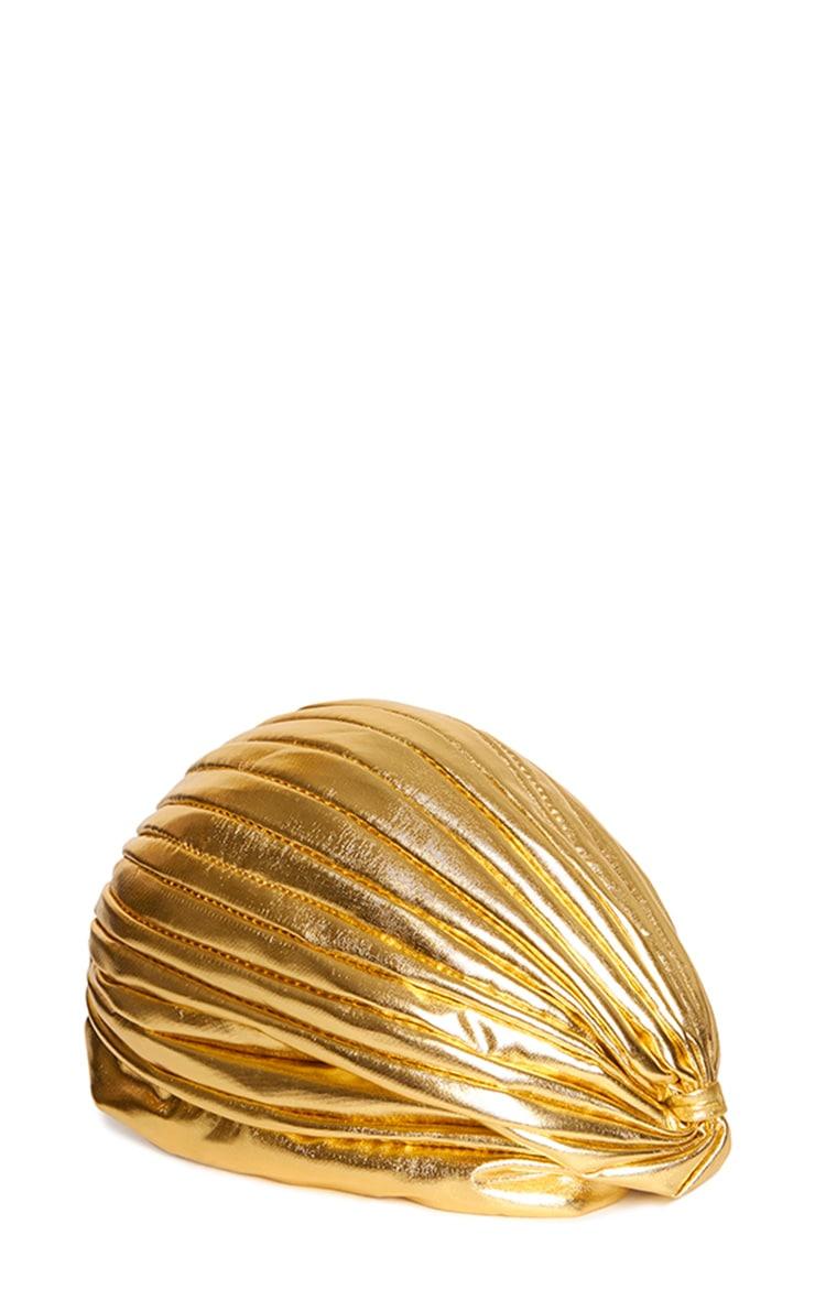 Mimosa Gold Foil Turban 3
