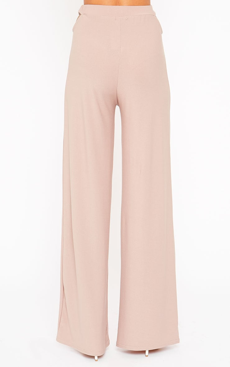 Elphina Dusty Pink Cut Out Palazzo Trousers 3