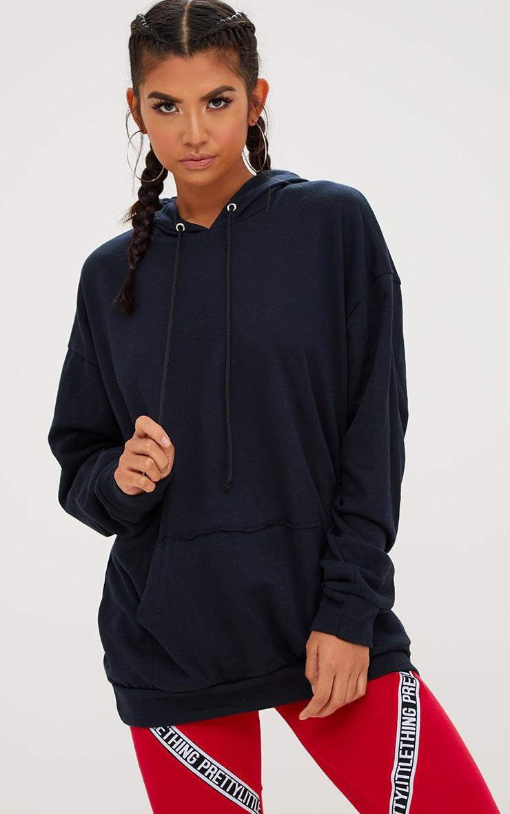 Black Oversized Hoodie 1