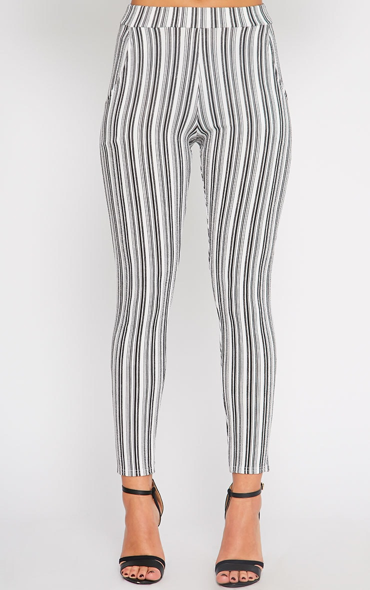 Ivy Monochrome Stripe Cigarette Trousers 2