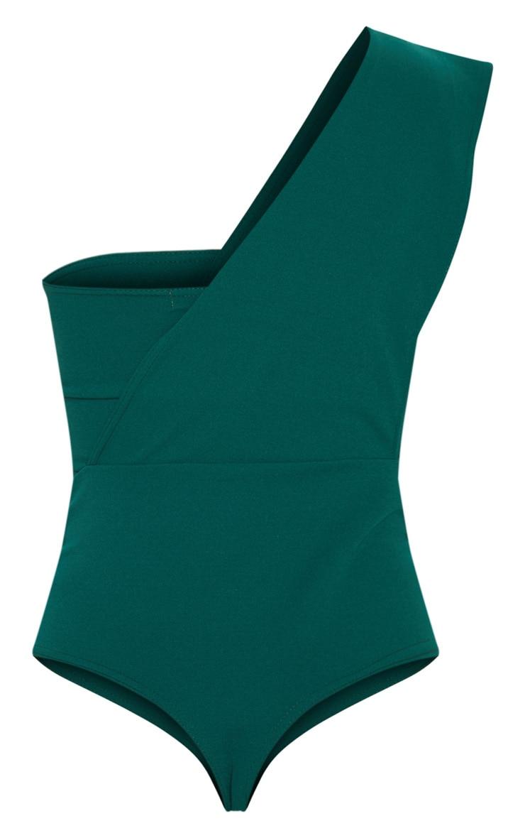 Emerald One Shoulder Bodysuit 4