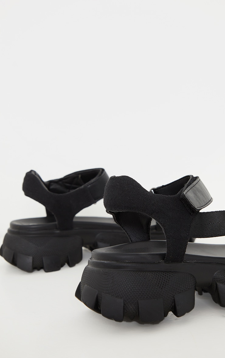 Black Extreme Cleated Sole Sports Sandals 4