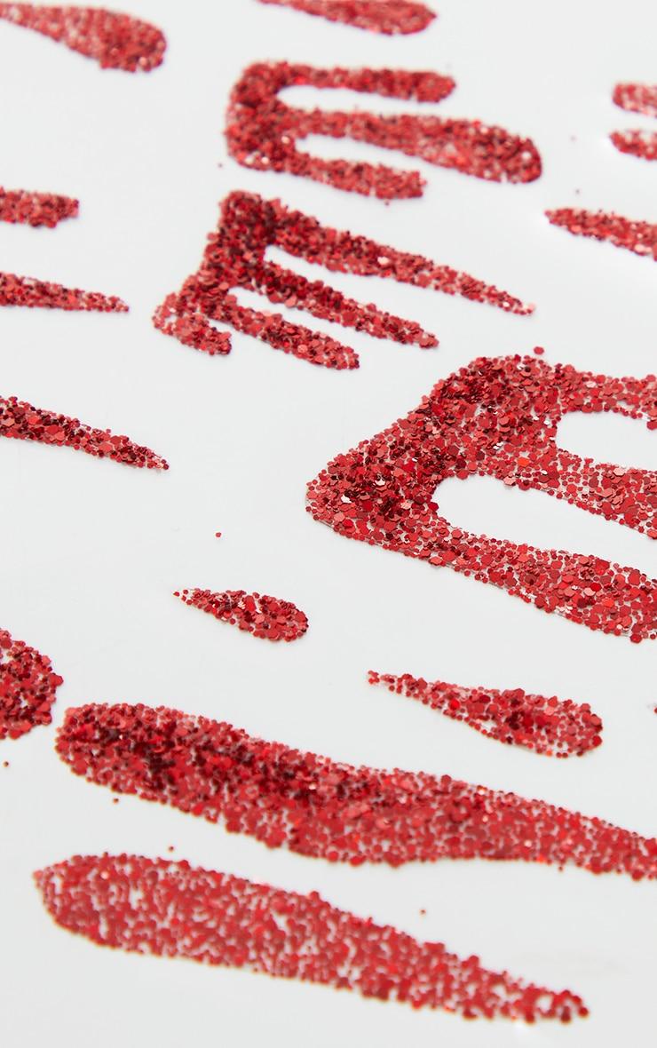 SHRINE Red Blood Glitter Stickers 2