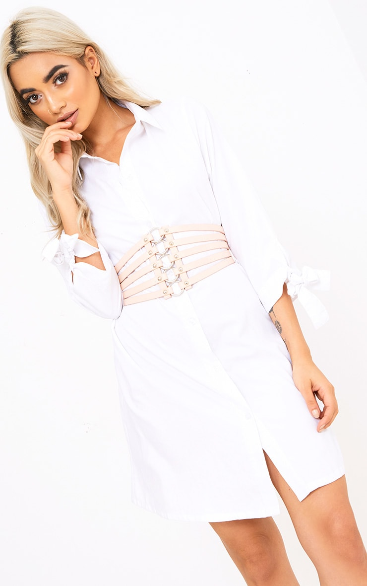 Nude Multi Ring Strappped Belt  1