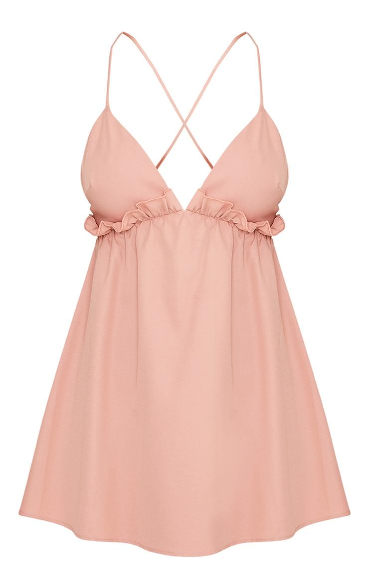 Lana Blush Strappy Frill Detail Swing Dress 3
