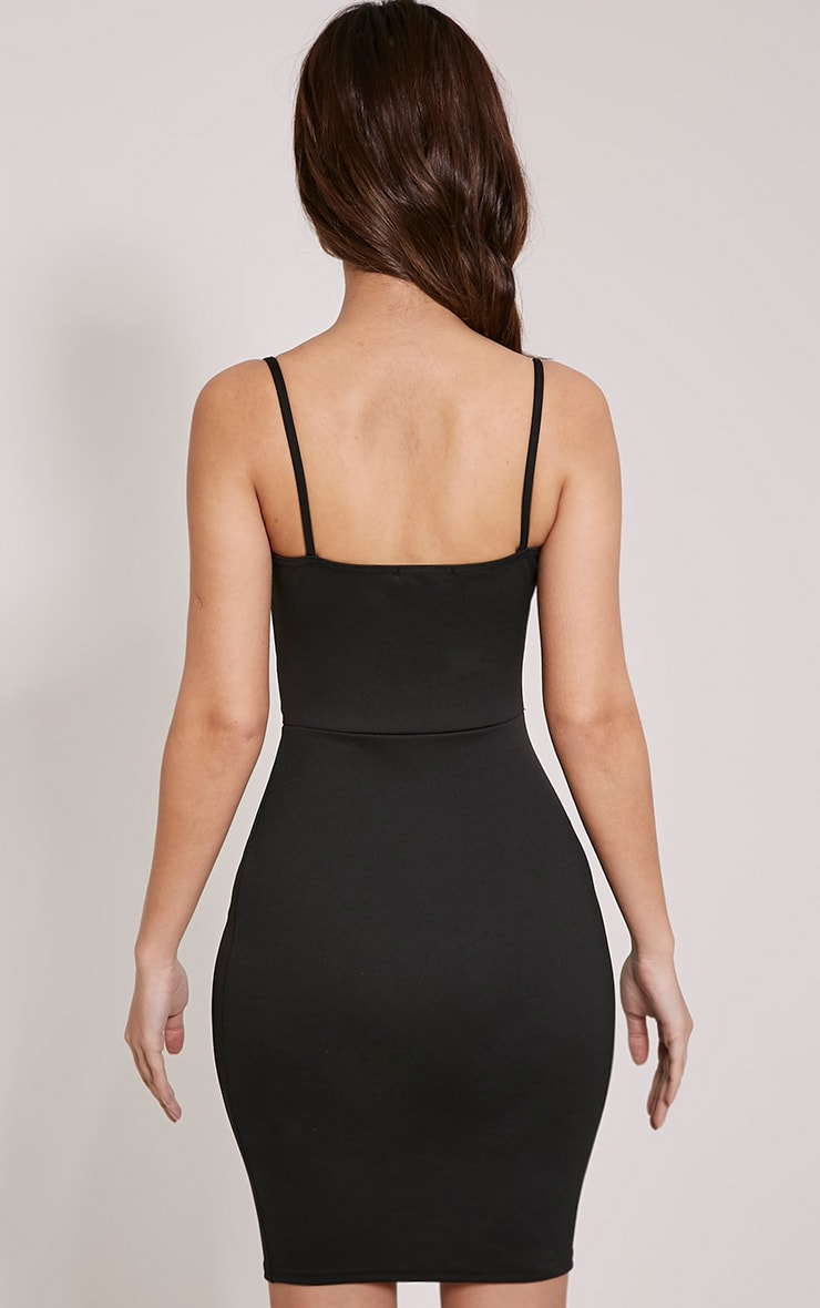 Roxanne Black Cut Out Mini Dress 2