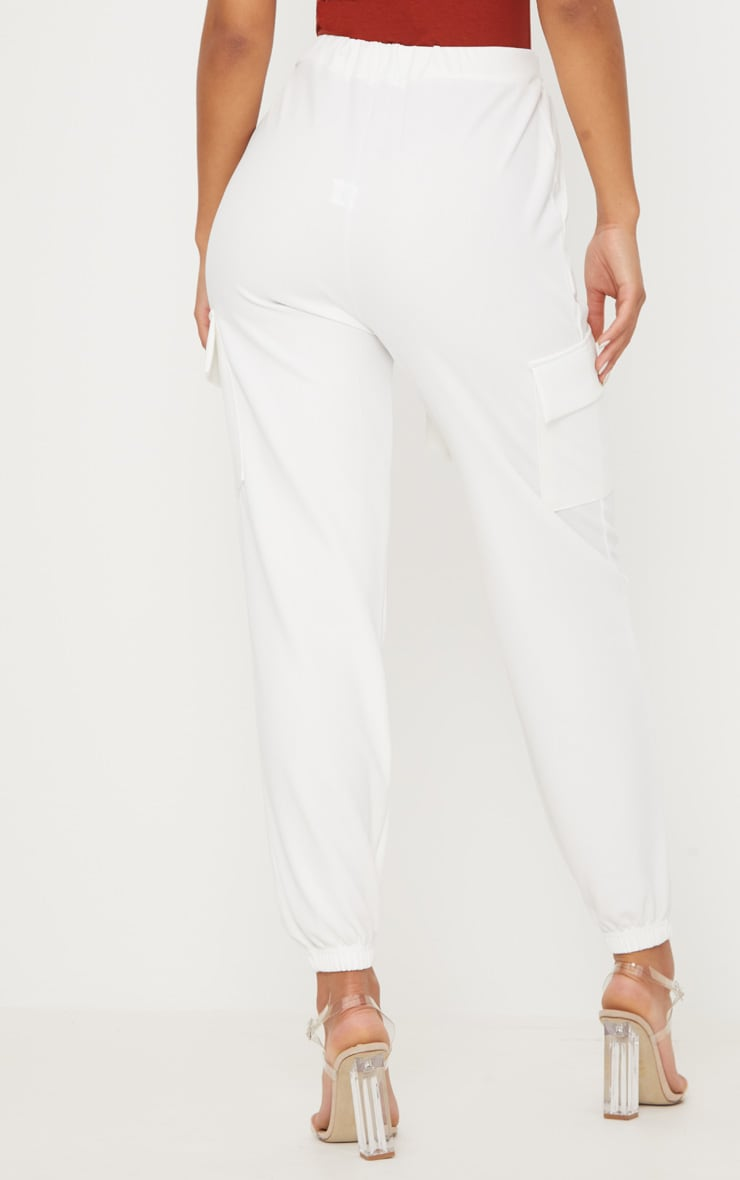 White Tie Waist Pocket Detail Pants 4
