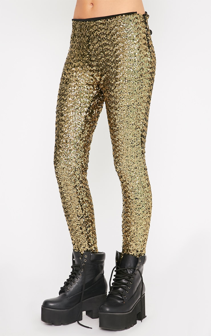 Maggie Gold Sequin Legging 4