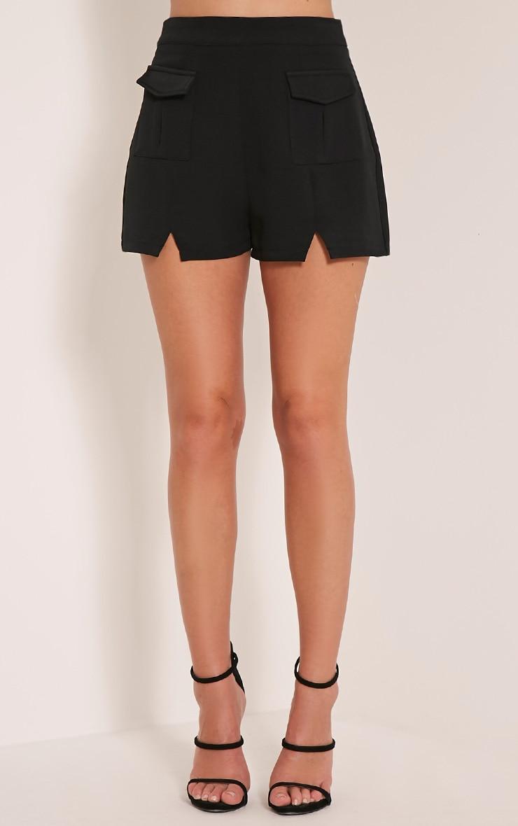 Jenie Black Utility Shorts 3