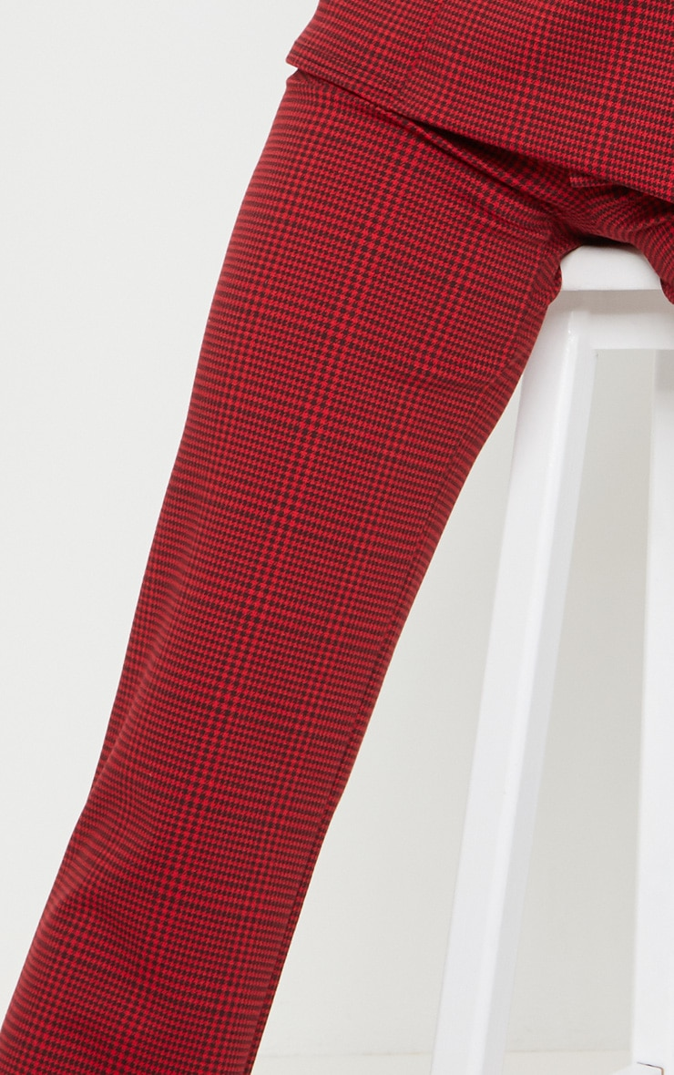 Red Checked Trouser 5