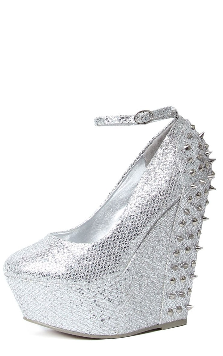 Kennedy Silver Spike Wedge  1