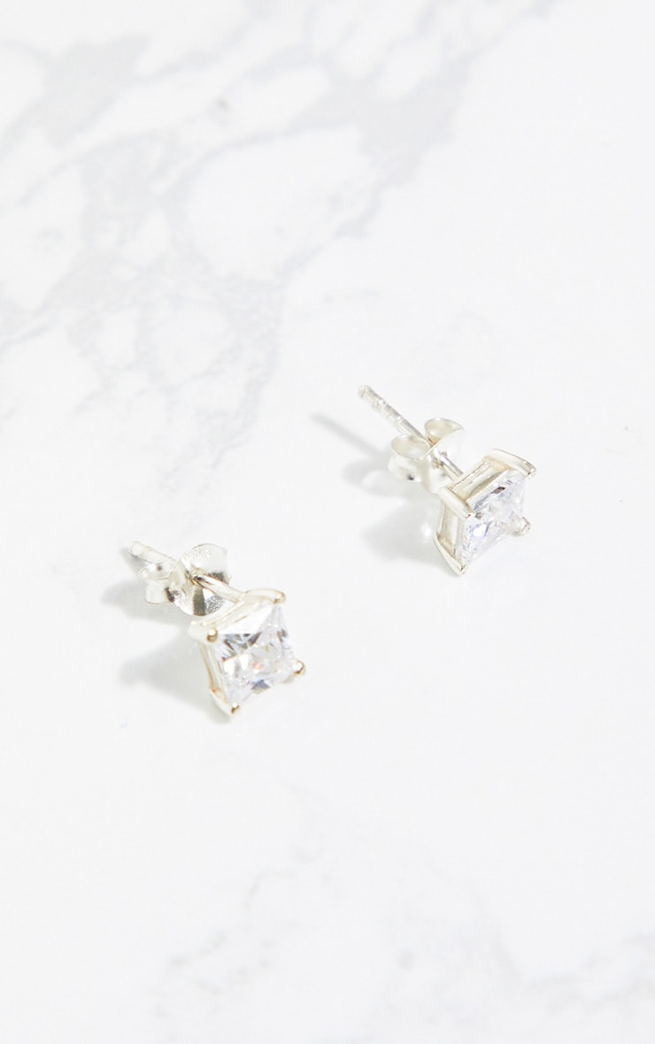 Sterling Silver Crystal Stud Earrings 3