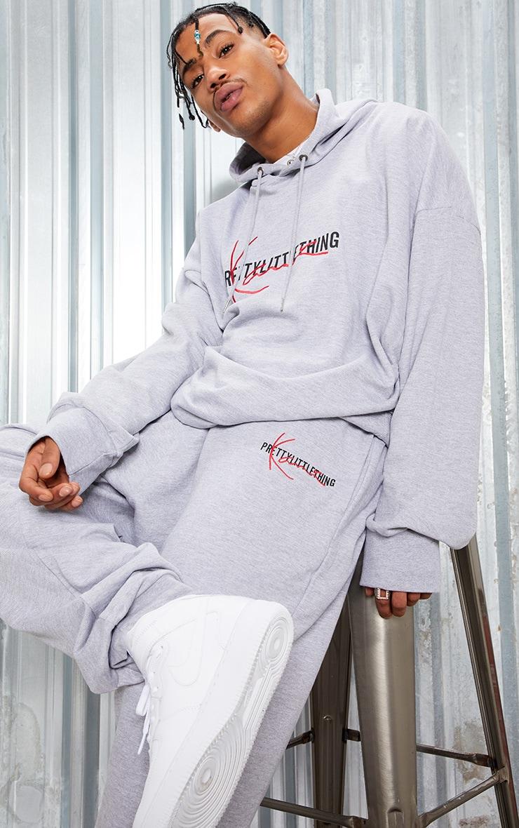 KARL KANI Grey PRETTYLITTLETHING Oversized Hoodie  7