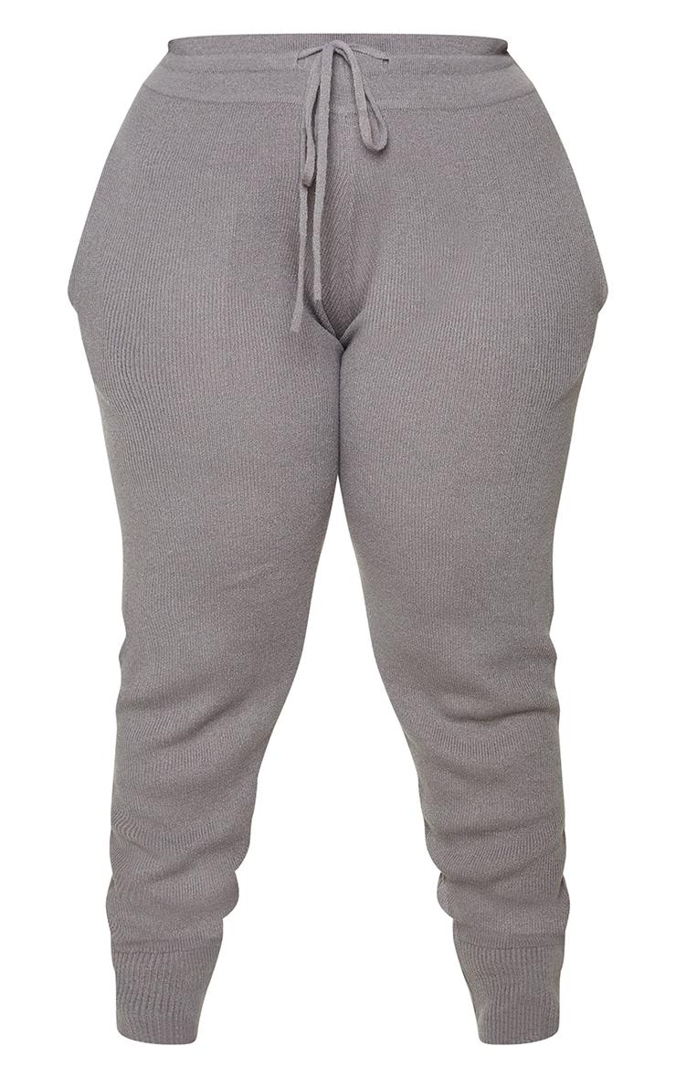 Plus Charcoal Knit Joggers 5