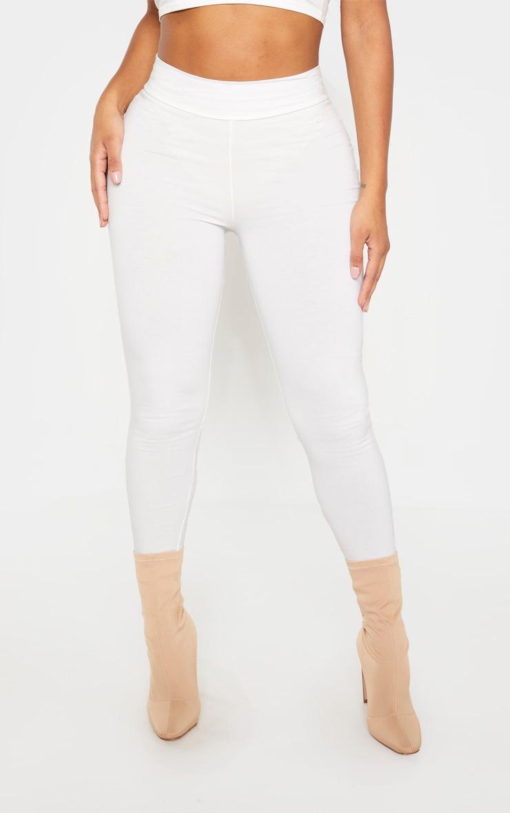 Shape Cream Cotton High Waist Legging 2