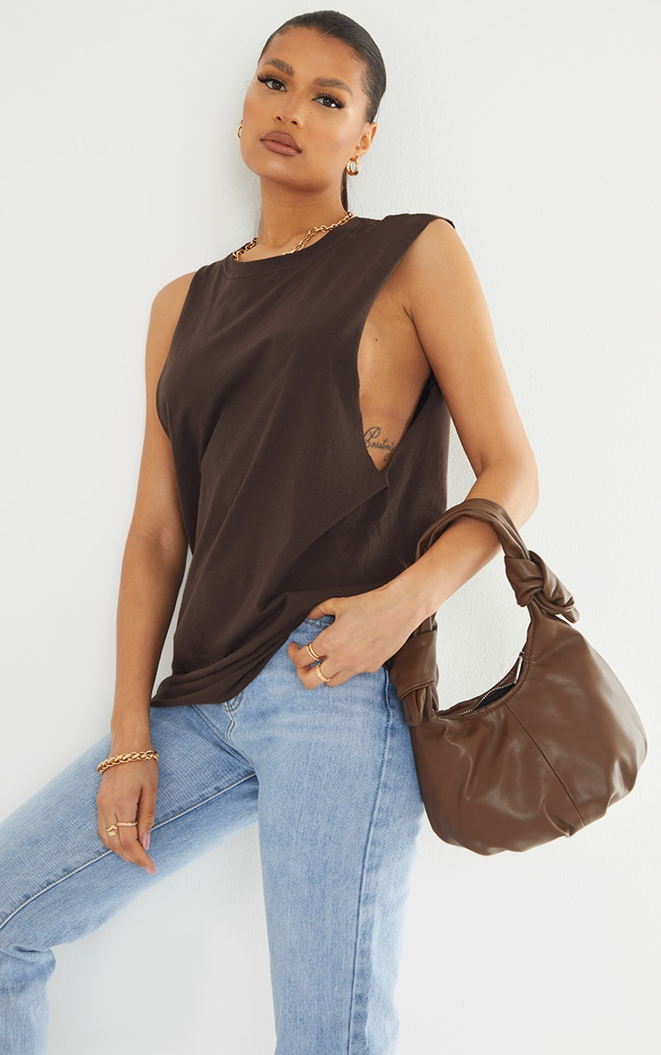 Chocolate Drop Armhole Sleeveless Tank Top image 1