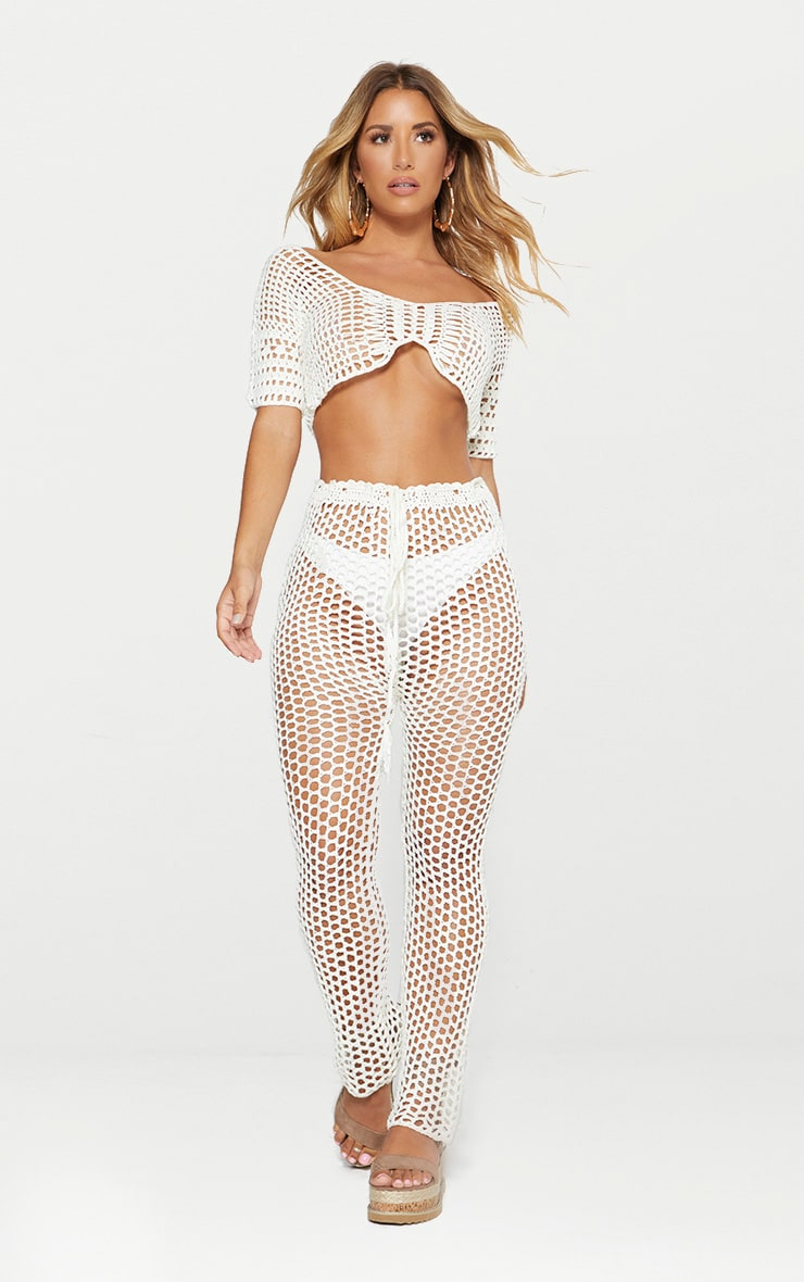 White Crochet Crop Top 3