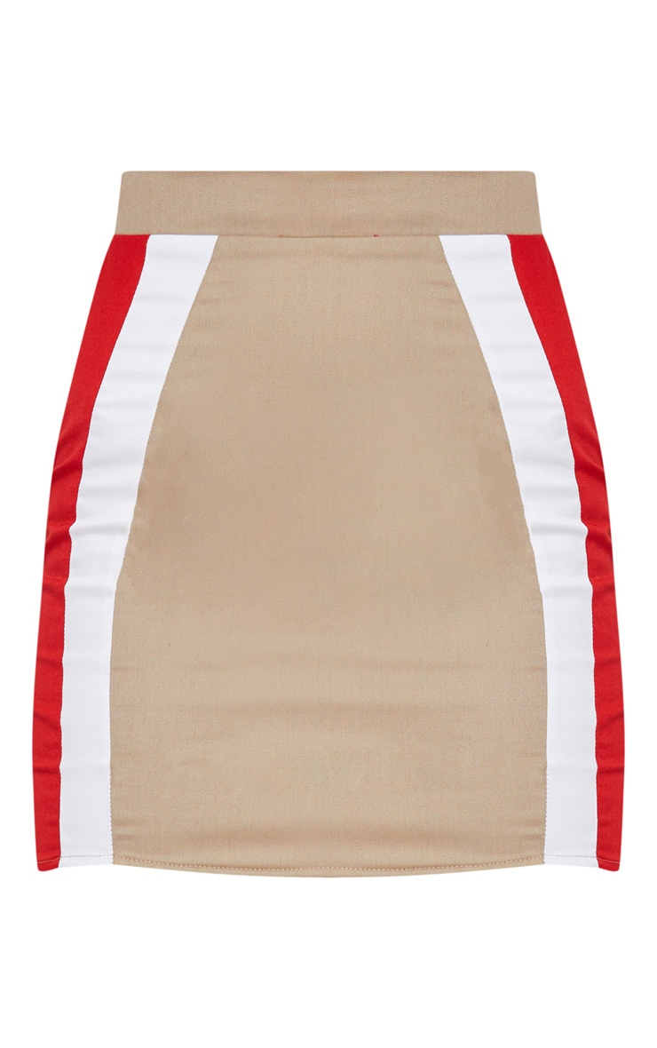 Stone Cargo Stripe Mini Skirt 3