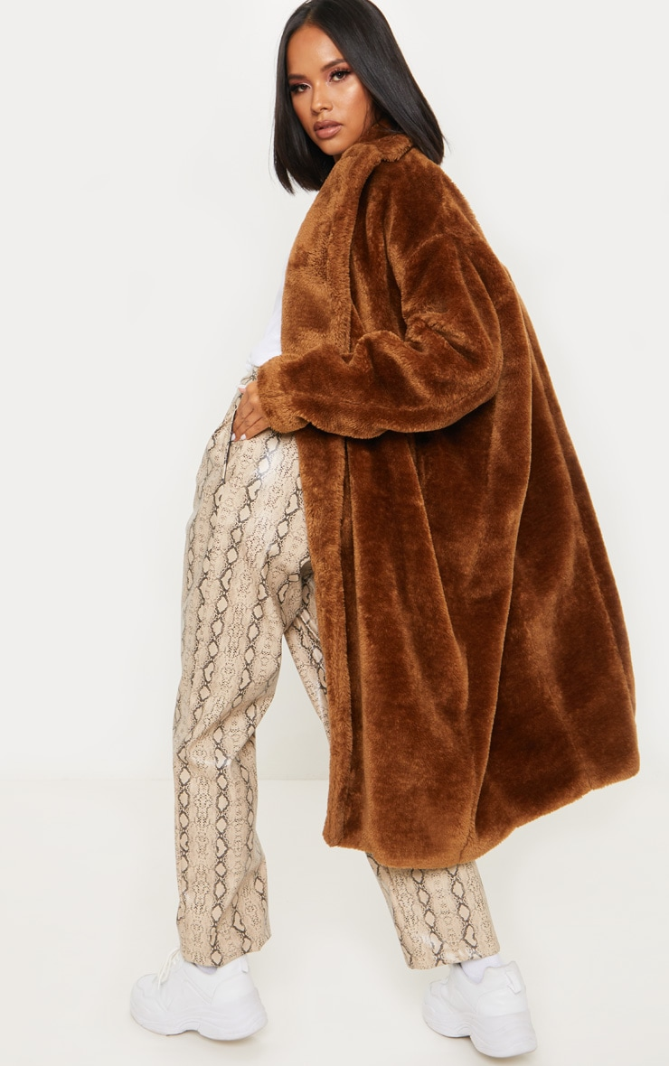 Brown Faux Fur Coat  2