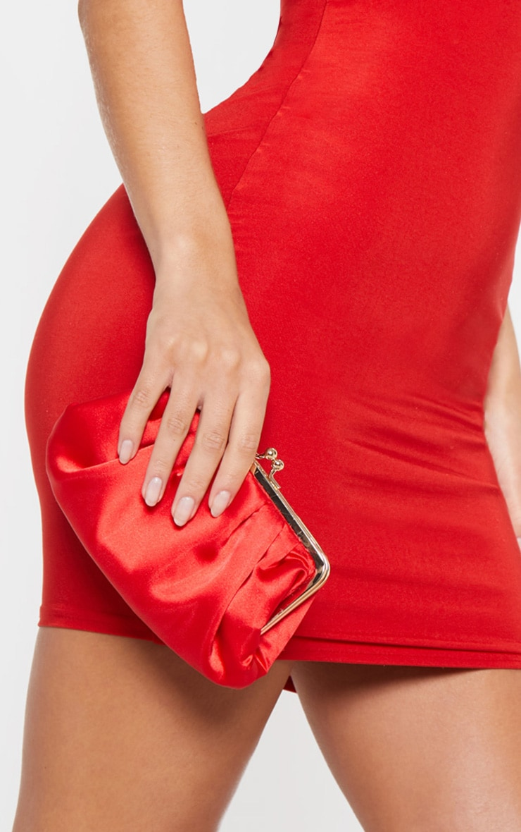 Red Satin Clutch  1