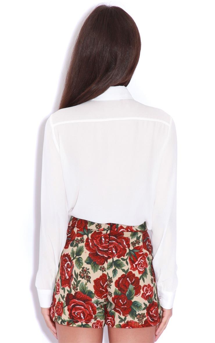 Sienna Red Floral Embroided Skort 2