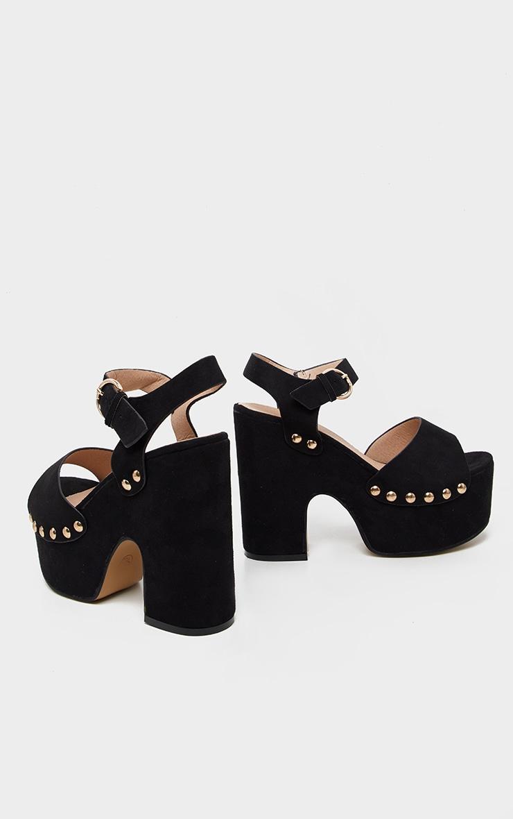 Black Studded Platform Sandal 4