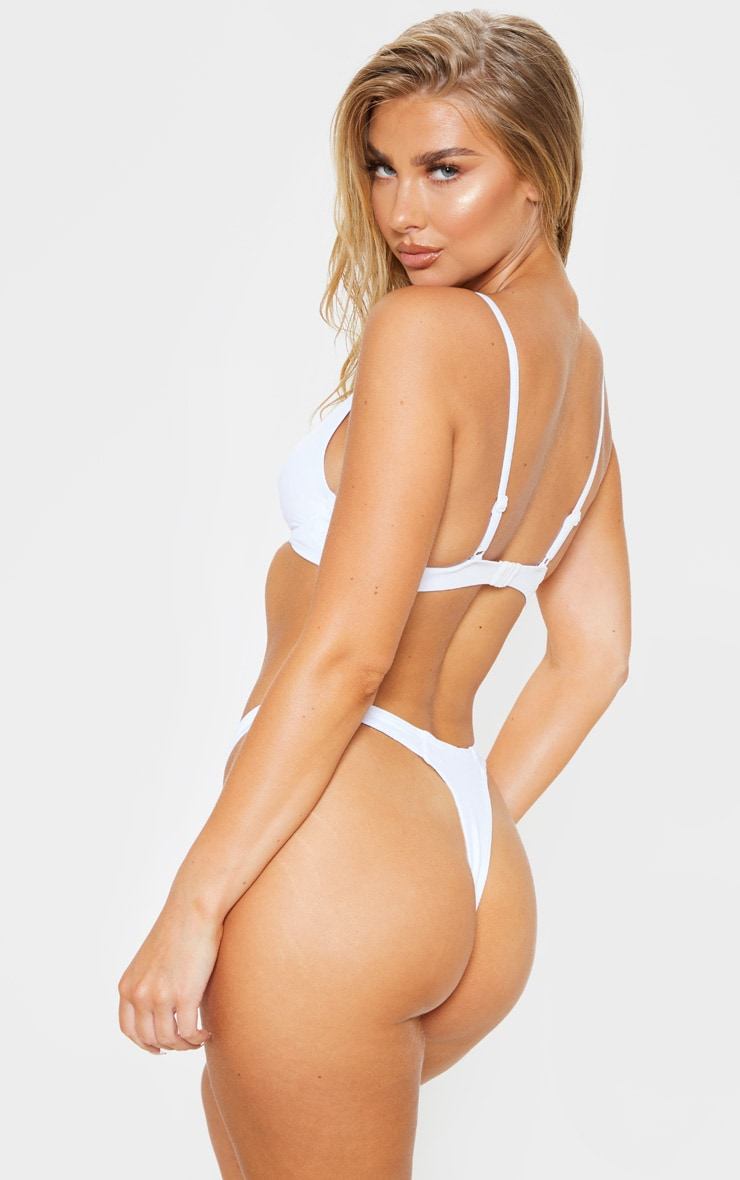 White Mix & Match Underwired Bikini Top 2