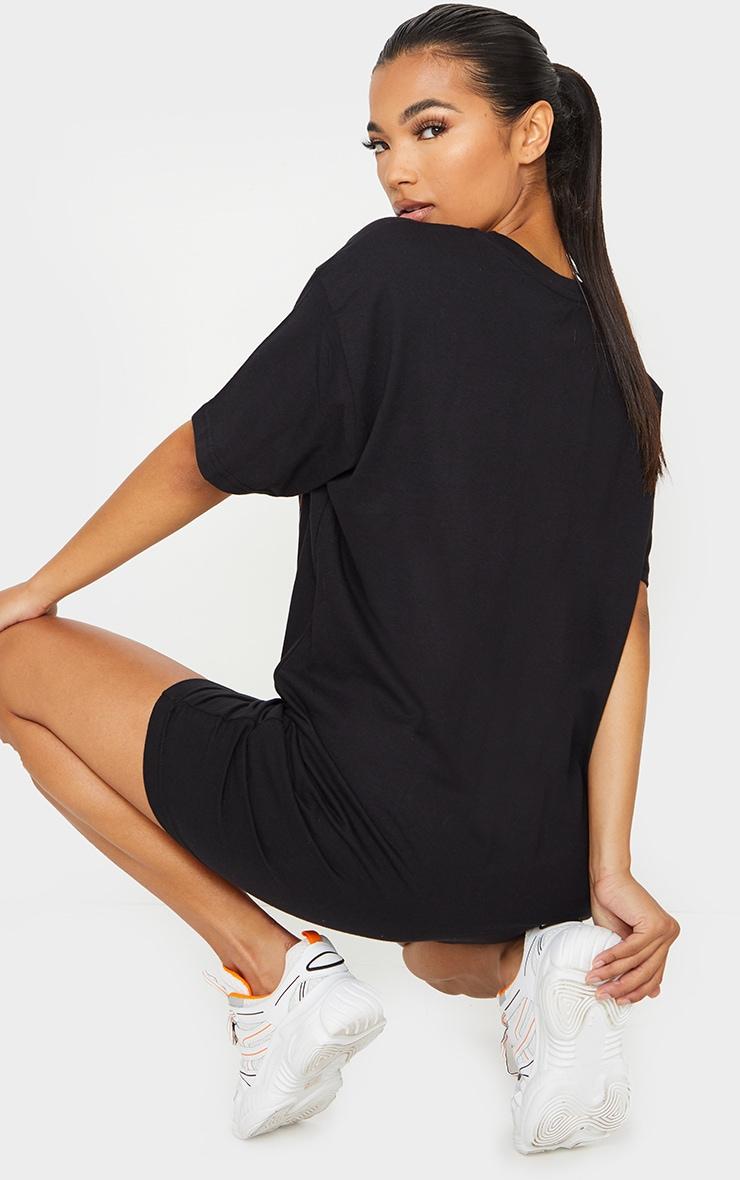Black David Bowie Slogan T Shirt Dress 2