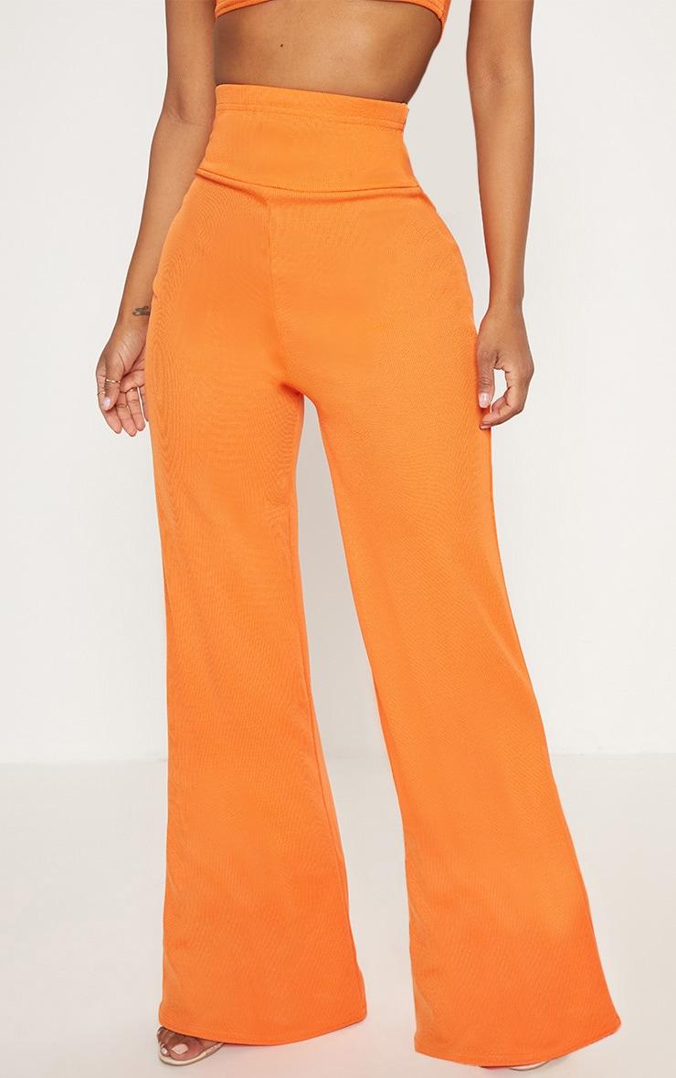 Shape Orange Bandage Extreme High Waist Wide Leg Trousers 2