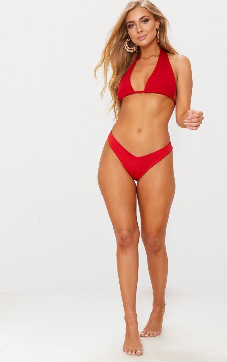 Red Multi Way Bikini Top 5