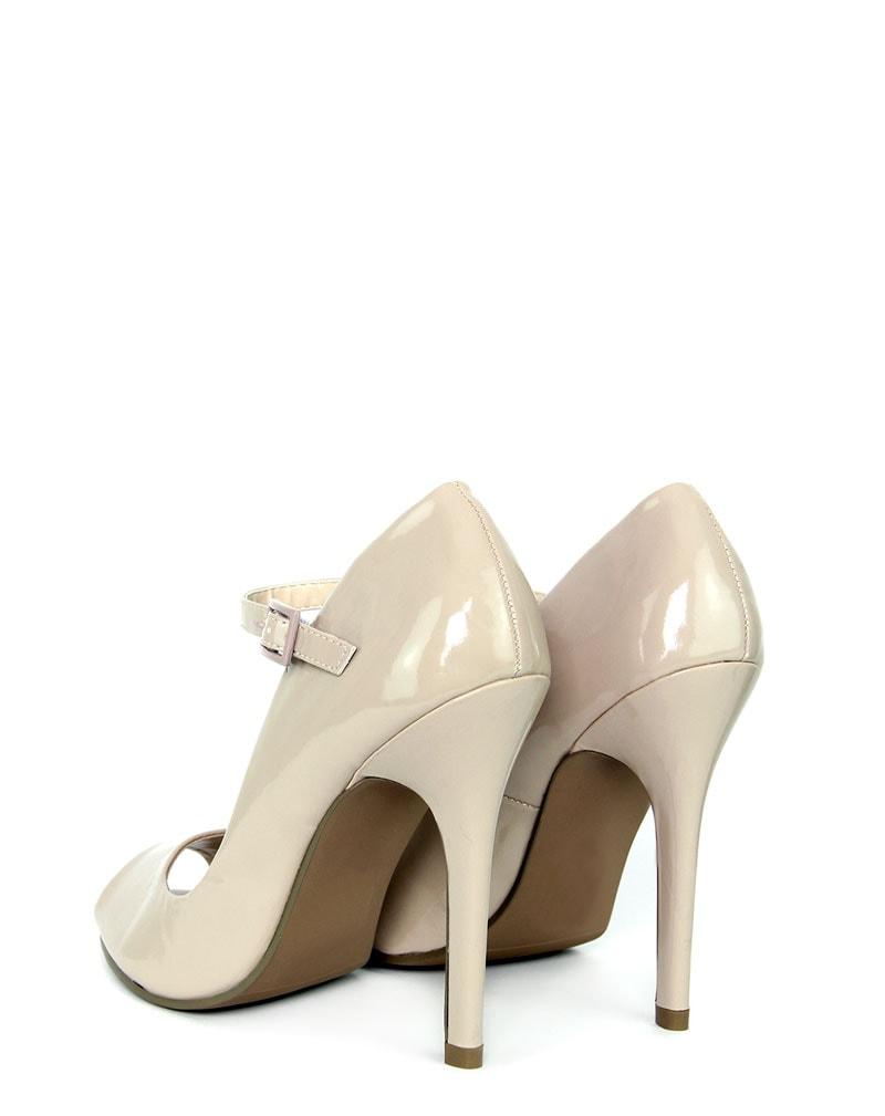 Tracey Peep Toe Patent Heel  3