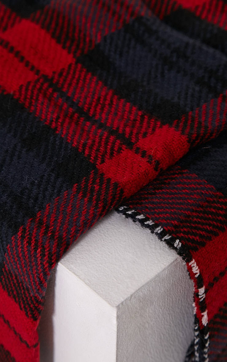 Georgey Multi Check Oversized Scarf 4