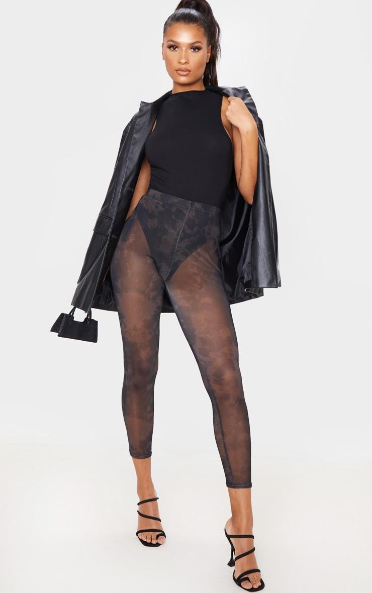 Black Tie Dye Mesh Legging 1