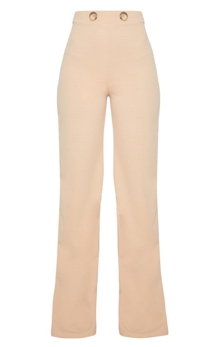 Stone Button Detail Wide Leg Trouser 3